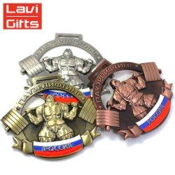 Customized Design 3D Antique Big Inner Hole Casting Sport Metal Award Medal for Souvenir Use Promotion