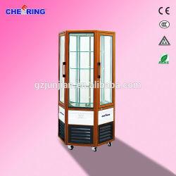 Hexagonal 2-Door Hexagonal Cake Showcase, 2-Door Rotary Refrigerator, 2-Door Display Cooler