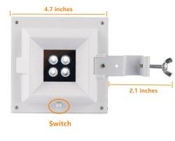 Smart LED Solar Fence Light with Light Sensor