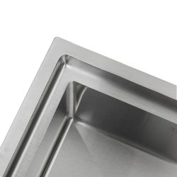 USA UK R10 16gauge 33'' Big Sinks Drop in Cabinet One Two Wash Basin Ladder Step Stainless Steel Finish Sink Glitter Glisten Handcraft with Cutting Board