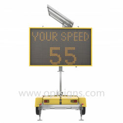 Optraffic RV009 Portable Solar Powered Trailer Mounted Message Sign System