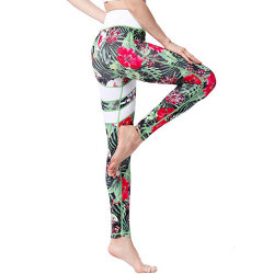Women Compression Printed Fitness Workout Sports Yoga Leggings & Bra