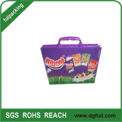 HDPE Shopping Bag with Strong Hard Handle, Costomize Design Logo Printed Plastic Bag
