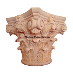 Classic Wood Carved Full Round Roman Corinthian Capital Cap-Fr-01