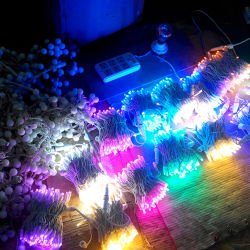 Marvelous IP65 Outdoor Use LED Rubber Cable Christmas Rice Lights
