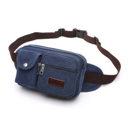 Leisure Outdoor Sports Running Climbing Fitness Hiking Bicycle Canvas Casual Waist Bag (CY8812)
