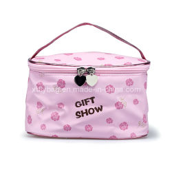 Polyester Makeup Case with Rose Pattern Fly-Cbg-042
