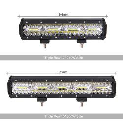 4WD Offroad Roof Light 60W 120W Car Spotlight 80W 200W 3rows LED Work Light Bar