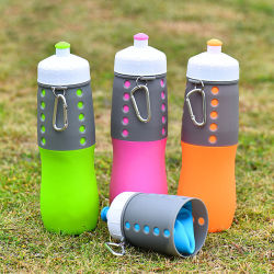 500ml Hot Items of Silicone Drinking Collapsible Water / Foldable Sports Water Bottle
