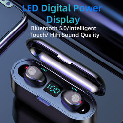 Tws Bluetooth Earphones 5.0 Wireless Earphone with Headphones Charge Box Sports Headset Ear Buds with Dual Microphone for Phone