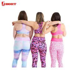 Aibort Polyester Elastic Sports Wear Fitness Bra Yoga Leggings Set (L-YG-15)