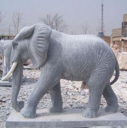 white large garden decoration marble elephant statue stone sculpture - Large Garden Statues