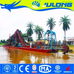 Julong Chinese Top Brand River Sand Bucket Dredger with Agitating Chute