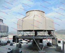175 Ton Concrete Mixing Station Used FRP Round Bottle Counter Flow Type Water Cooling Tower
