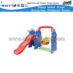 Plastic Toddler Toys with Swing Slide and Basketball Goal (HC-16409)