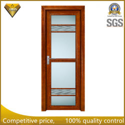 Frosted Glass Good User Experience Aluminum Double Glass Casement Doors for Bathroom and Toilet