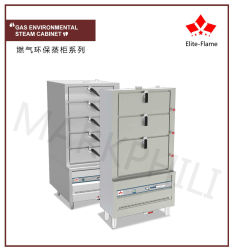 Gas Triple Door Environmental Steamer Cabinet (solenoid Safety Valve)