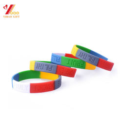 Custom Printing Silicone Wristband Bracelet Hand Band Vote Promotional Gifts