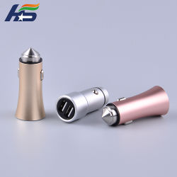 Fire Arrow Head Fast Car Charger Dual Ports USB 5V 1A 5V2.4A