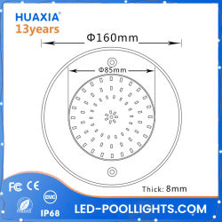 8mm Thickness 8W SPA/Pond/Fountain Swimming Pool LED Underwater Light