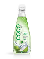 300ml Pet Bottle Kiwi Flavor Sparkling Coconut Water