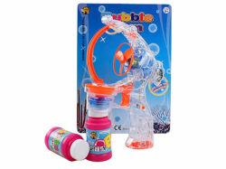 Summer Toy B/O Transparent Bubble Gun with Flashing Light (H7601058)