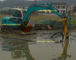 Centrifugal Submersible Sand Dredging Slurry Pump with Agitator and Excavator