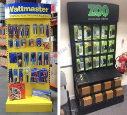 Hardware Pegboard Metal Floor Hooks Tools Display Shop Exhibition Product Shelf