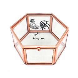 Glass Gold Jewelry Box Wedding Gifts (Jb-1077-11)