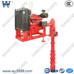 International Certified Diesel Engine Long Shaft Vertical Turbine Fire Pump Set