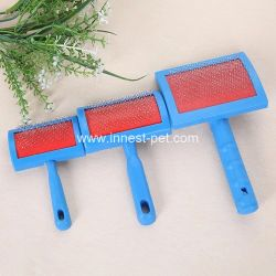 Plastic Grooming Salon Blue Dog Message Comb, Pet Hair accessory