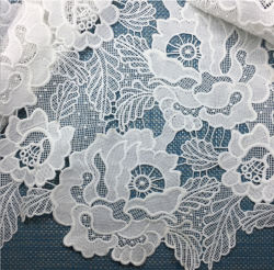 Best Price Milk Yarm Flower Lace Fabric Guipure Lace Fabric for Women
