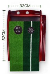Auto Ball-Back Solid Wood Golf Putting Trainer