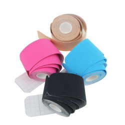 Waterproof Physio Therapy Recovery Elastic Cotton 5cm X 5m Muscle Athletic Support Precut Kinesiology Sports Tape for Pain Relief