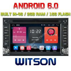 Witson Quad-Core Android 6.0 Car DVD Player for Universal Double DIN DVD Player 2g RAM Bulit in 4G 16GB ROM