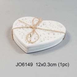 Cheap Good Quality Heart-Shaped Polyresin Coaster