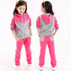 Factory Custom High Qaulity Baby Girl's Sport Wear Casual Clothes