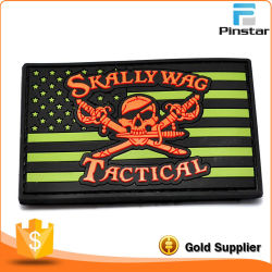 Custom Tactical Morale Military Flag PVC Hook & Loop Rubber Patch