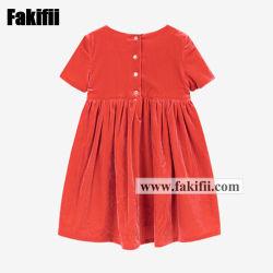 Casual Wear Baby Girl Orange Vevelt Dress Baby Knitted Apparel