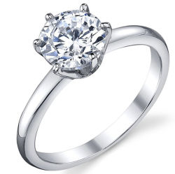 925 Sterling Silver Ring with CZ Customized Design for Wholesale