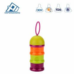BPA Free Portable Plastic Milk Powder Box Baby Feeding Storage Box Three Layers Baby Food Storage Container