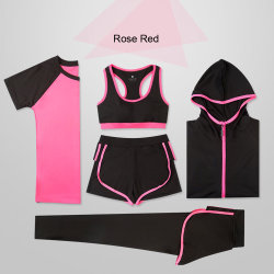 Wholesale Quick-Dry Professional Sports Fitness 5piece Yoga Set