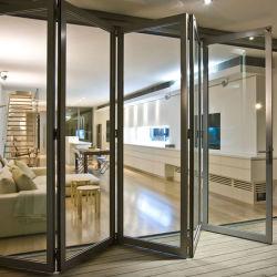 Hot Double Gl Aluminum Frame Folding Door Reasonable Price