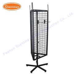 3 Sides Metal Free Standing Wire Mesh Hanging Display Racks