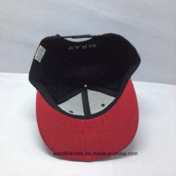 Wholesale 6panel 3D Embroidery PU Leather Flat Brim Snapback Cap