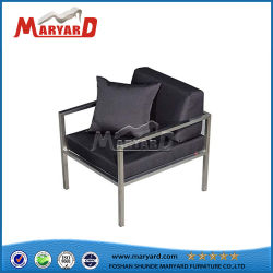 Waterproof Polyester Fabric Single Seater Sofa with Pillow