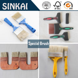 Short Wooden Handle for Wall Paint Brush