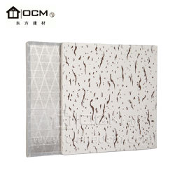 Decoration Mgoso4 Laminated PVC Veneer with Marble Wallpaper