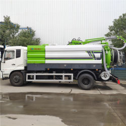 12 Metric Tonne Automatic Vacuum Sewer Vehicle Combined Type Manufacture
