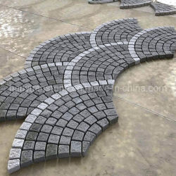 G603 and G654 Grey Granite Meshed Cobblestone in Driving Way Paver